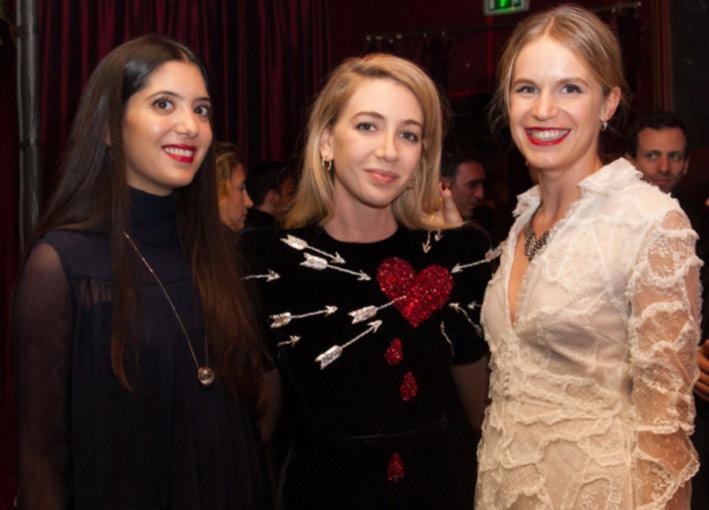 Da sinistra a destra: Noor Fares, Sabine Ghanem, Eugenie Niarchos