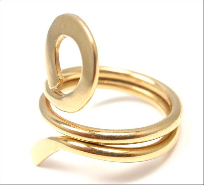 Anello in oro disegnato per Cartier