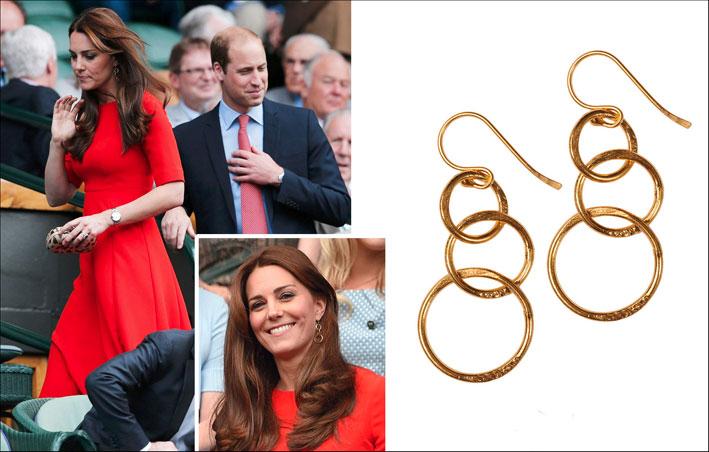 Kate Middleton a Wimbledon, con gli orecchini da 39 euro