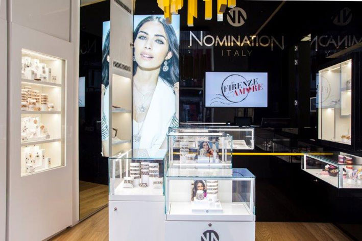 Lo store Nomination di via Frattina, a Roma