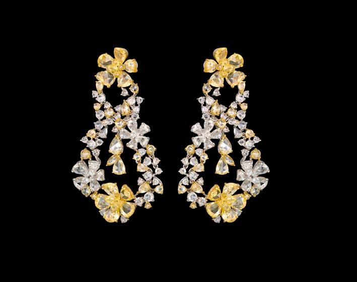Nirav Modi, collezione The Fluire, orecchini