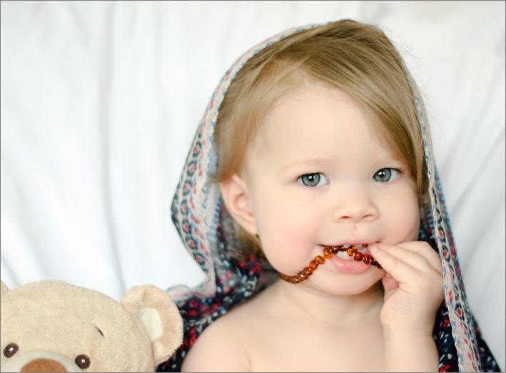L'ambra utilizzata per la dentizione