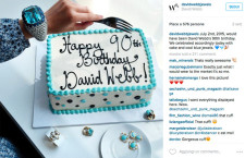David Webb festeggiato su Instagram