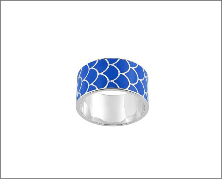 Collezione Glamour, anello in argento e lacca