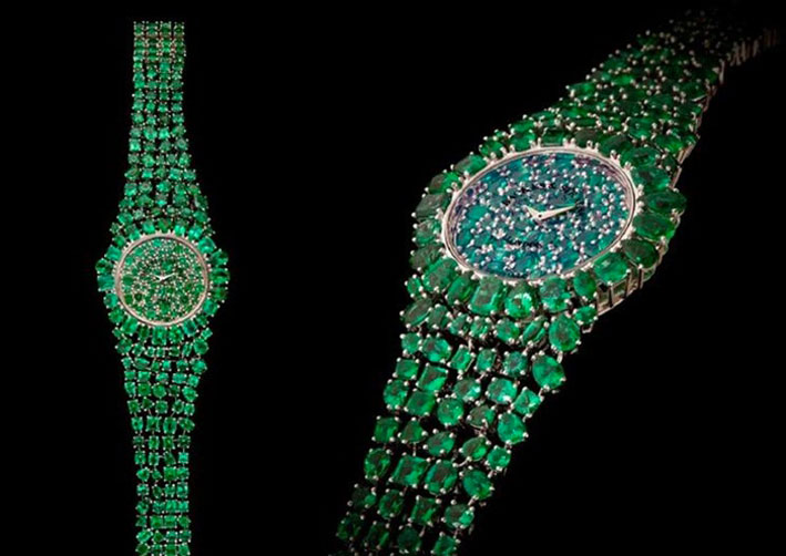 Il bracciale-orologio Piccadilly Princess Royal Emerald Green