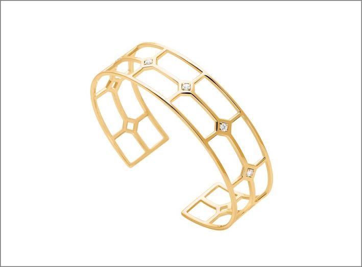 Bracciale placcatoi oro e cubic zirconia