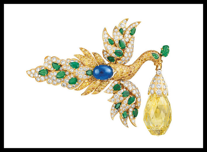 Spilla Walska Briolette Diamant, del 1971