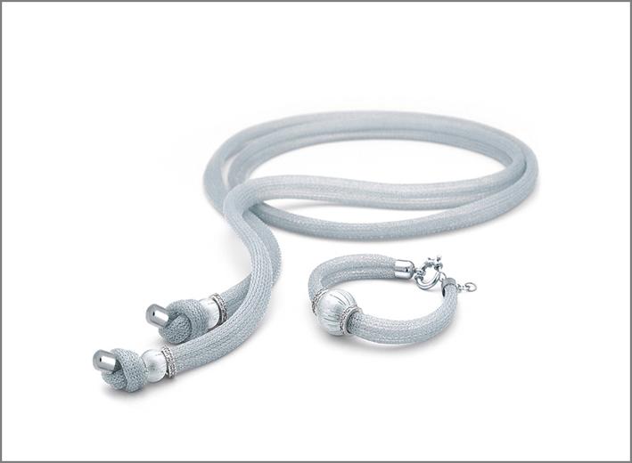 Collana e anello Aurora Silver