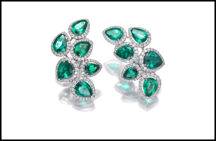 Picchiotti, orecchini con smeraldi
