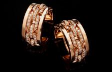 Orecchini in oro rosa 18 carati con diamanti