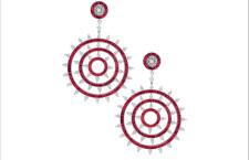 Orecchini con rubini taglio pera e diamanti taglio brillante