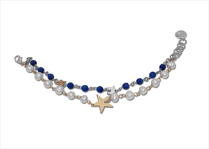 Bracciale con stelle e perle