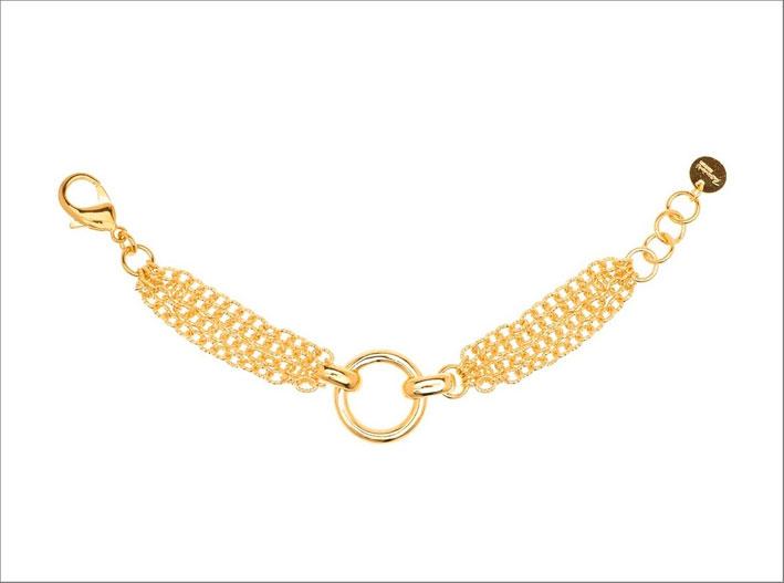 Bracciale in bronzo dorato, collezione GoldenAge