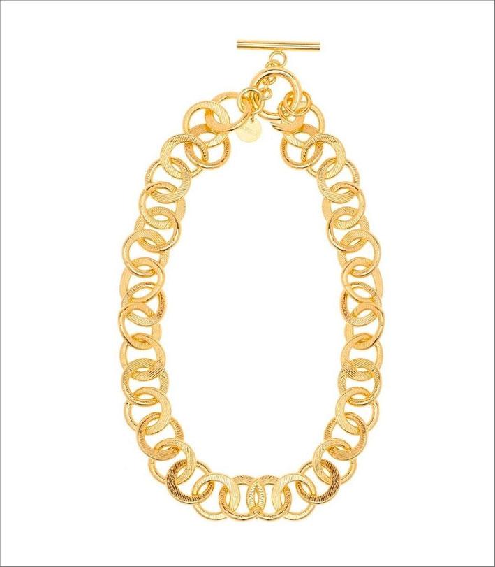 Collana in bronzo dorato, collezione GoldenAge