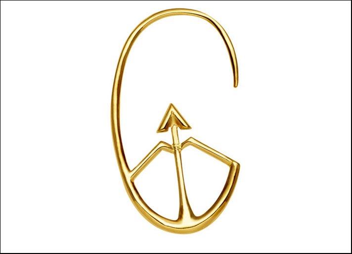 L'orecchino che rappresenta il Sagittario nella collezione Fortune