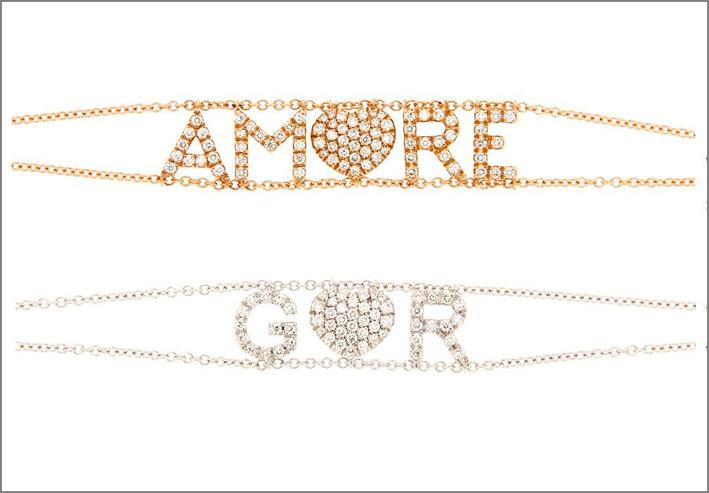 Bracciali in oro e diamanti di Fiore Roberta