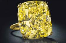 Grande diamante fancy Vivid Yellow da 75,56 carati