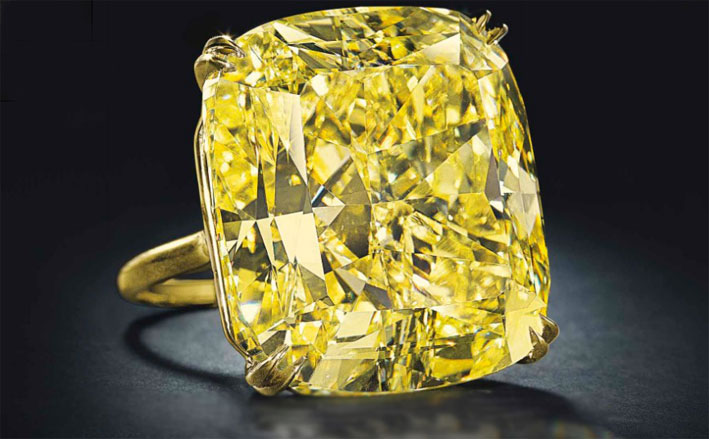 Grande diamante fancy Vivid Yellow da 75,56 carati
