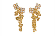 Orecchini della collezione Giardino misterioso, in oro e diamanti