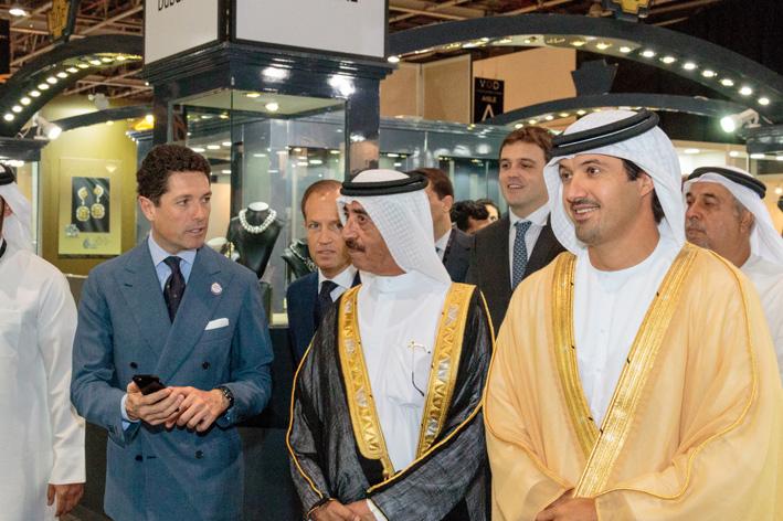 L'inaugurazione di VicenzaOro Dubai 2015. A sinistra, Matteo Marzotto