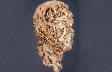 La testa di Alberto di Monaco in oro, disegnata da Barry X Ball e realizzata da Damiani