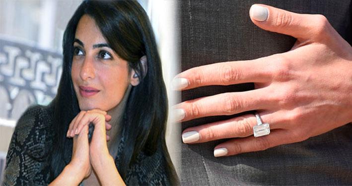 Amal Clooney e l'anello di fidanzamento