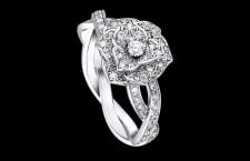 Piaget, anello in oro bianco e diamanti taglio brillante