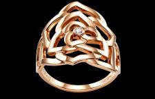 Piaget, anello della collezione Rose, in oro rosa