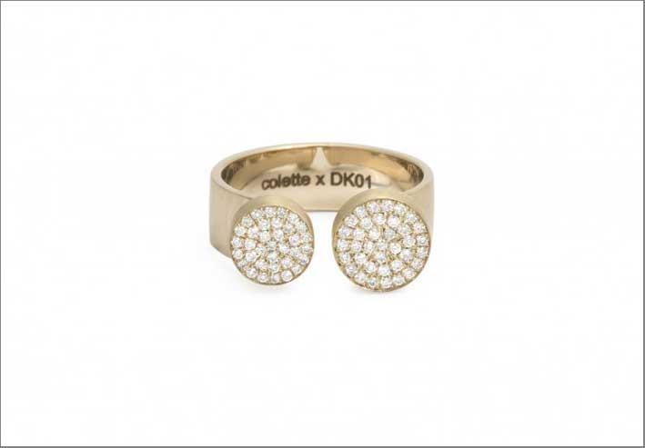 DK01. anello in oro e diamanti per Colette