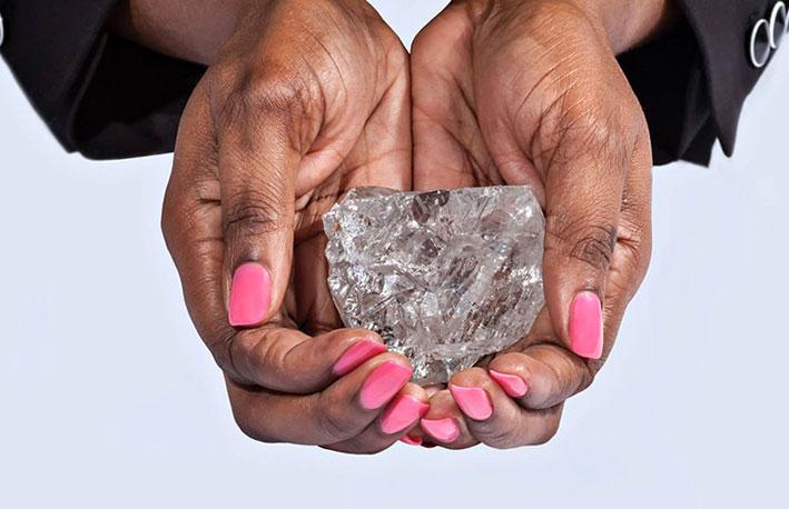 Il maxi diamante trovato nella miniera di Karowe, in Botswana