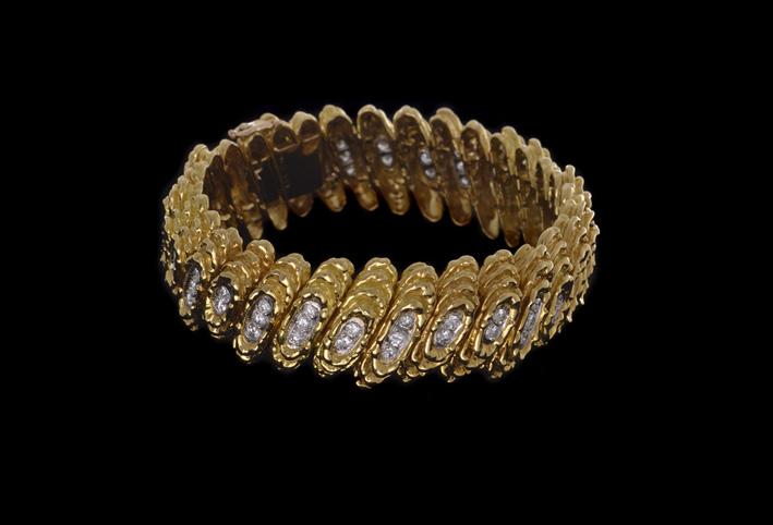 Kutchinsky, braccial in oro e diamanti