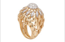 Ferrarifirenze, anello della Twist Twist collection, in oro e diamanti