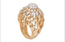 Anello della Twist Twist collection, in oro e diamanti