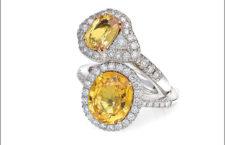 Anelli in oro bianco, diamanti bianchi e fancy