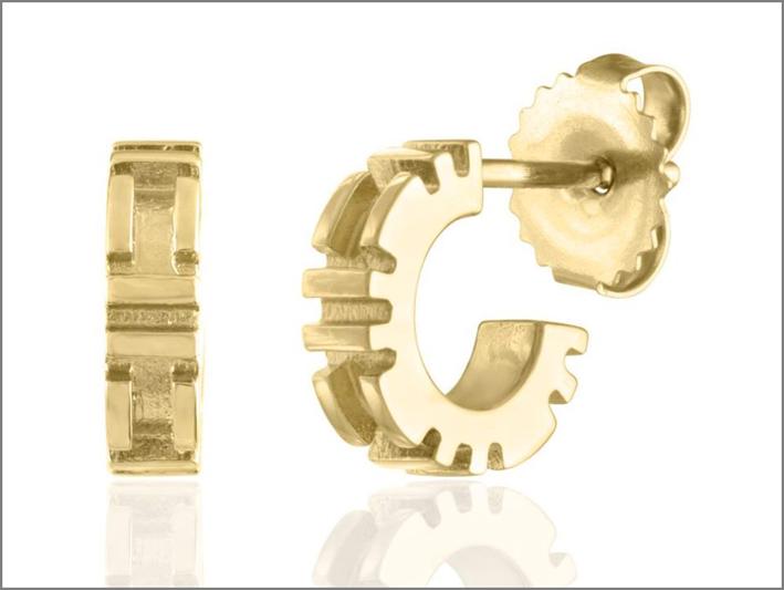 Orecchini City Bitty Hoops in oro 18 carati