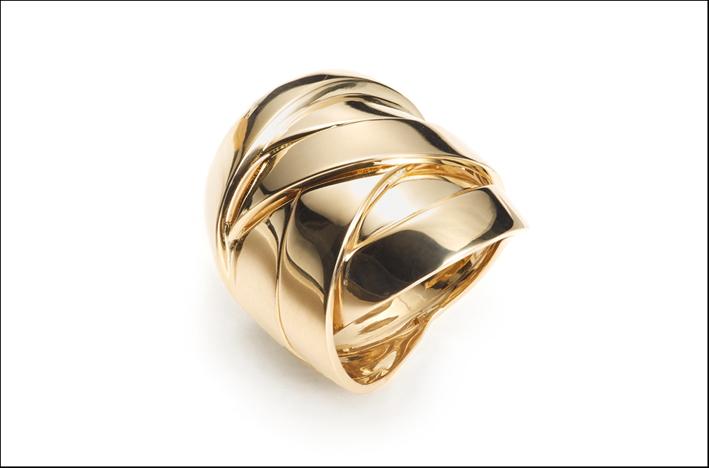 Maldamore, anello in oro giallo