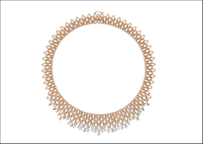 Collier della collezione New Barocco, in oro e diamanti taglio brillante