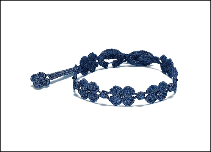 Bracciale Cristallo for man blu navy. Prezzo: 20 euro