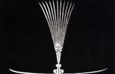 Spilla per copricapo in oro e diamanti di Cartier