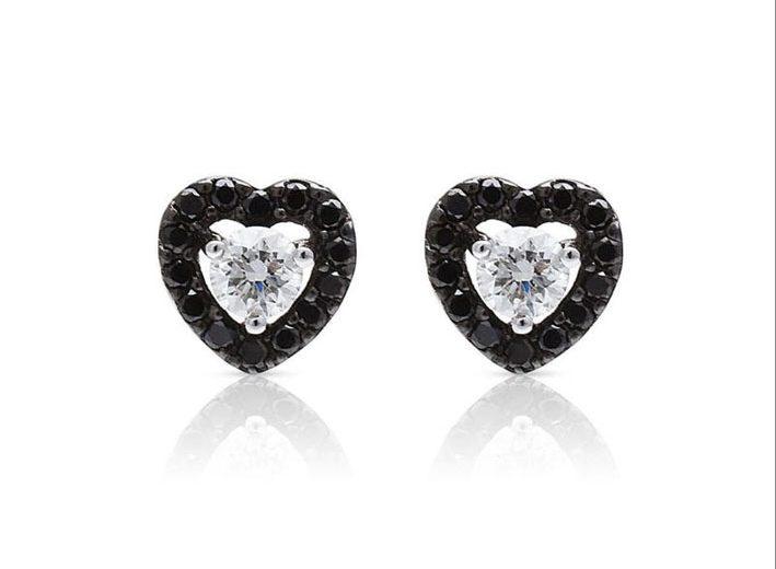 Orecchini Salina con diamanti bianchi e neri