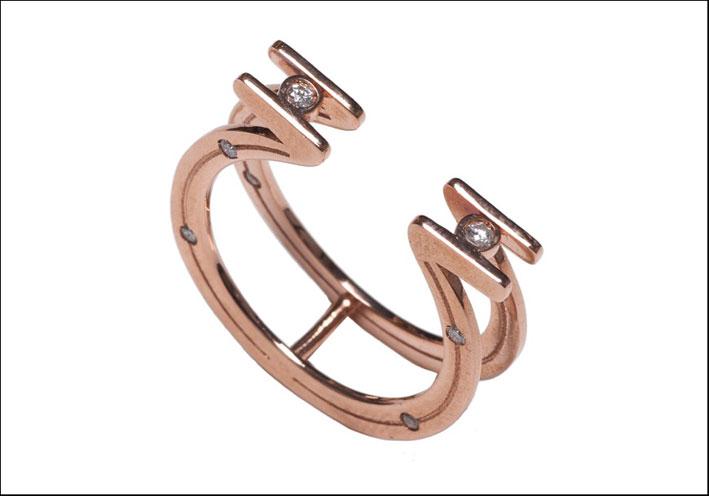 Anello ferro di cavallo. Prezzo: 415 euro