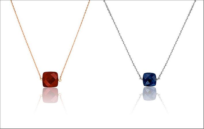 Collane con rubino e zaffiro