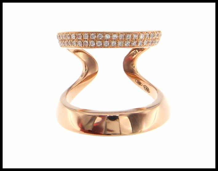Dada Arrigoni, collezione Double. Anello in oro rosa e diamanti