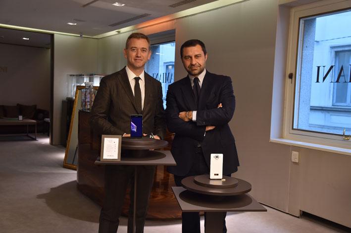 Carlo Purassanta (a sinistra) con Giorgio Damiani