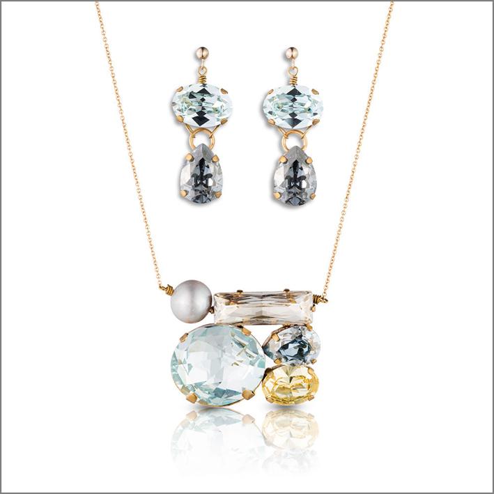 Set con cristalli di Philippa Kunish. Prezzo: 395 dollari