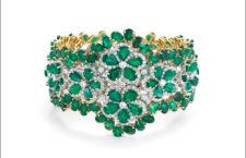 Bracciale con smeraldi e diamanti