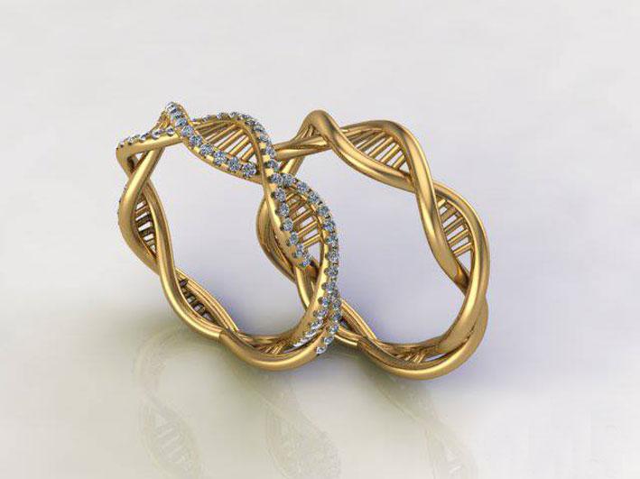 Anelli Dn, in oro e diamanti