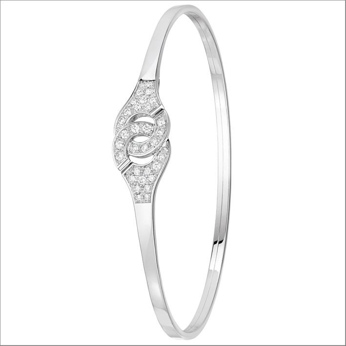 Braccialetto Menottes Dinh van in oro bianco e diamanti
