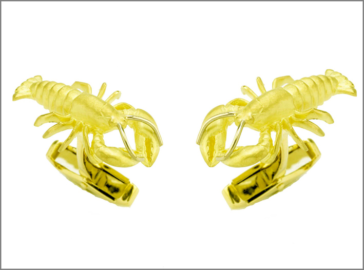 Gemelli aragosta in oro 18 carati