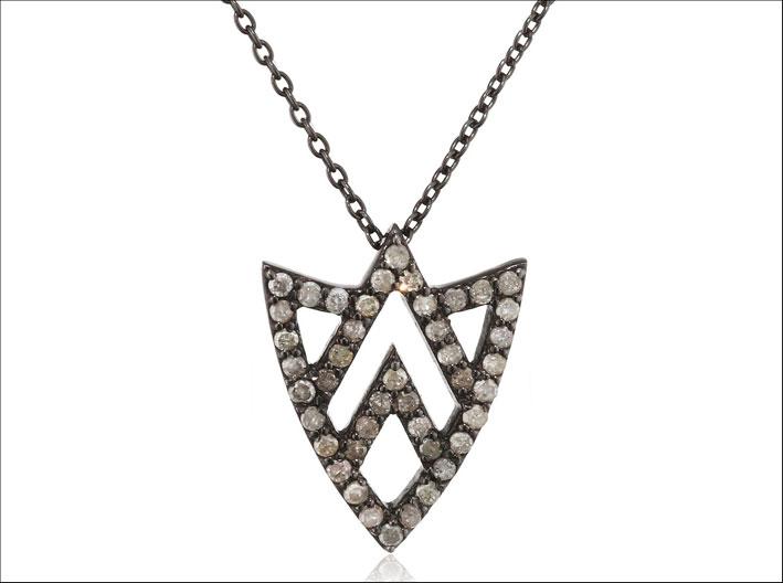 Collana con diamanti Chevron Shield.